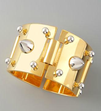 Eddie Borgo Mixed-Metal Studded Bracelet