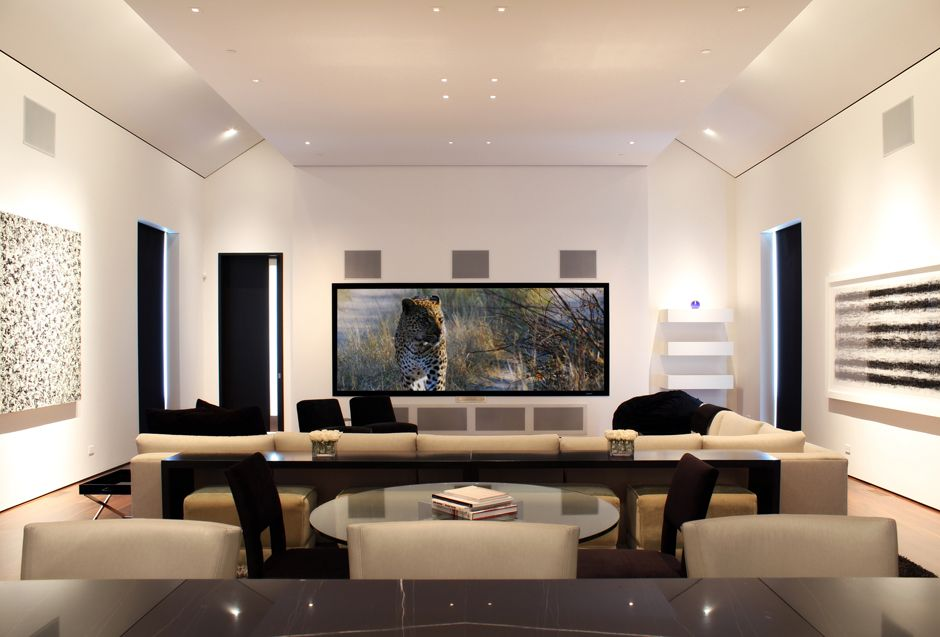 Modern Media Room Media Room Audio Room Room Design