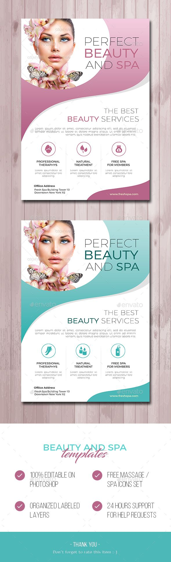 Salon And Spa  Psd Templates Flyer Template And Flyer Printing