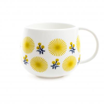 Mug fleurs jaunes
