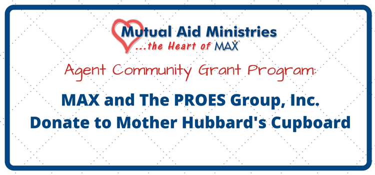 Max Insurance And The Proes Group Inc Donate To Mother Hubbard S Cupboard Welcome To Max Community Grants Hubbards Max