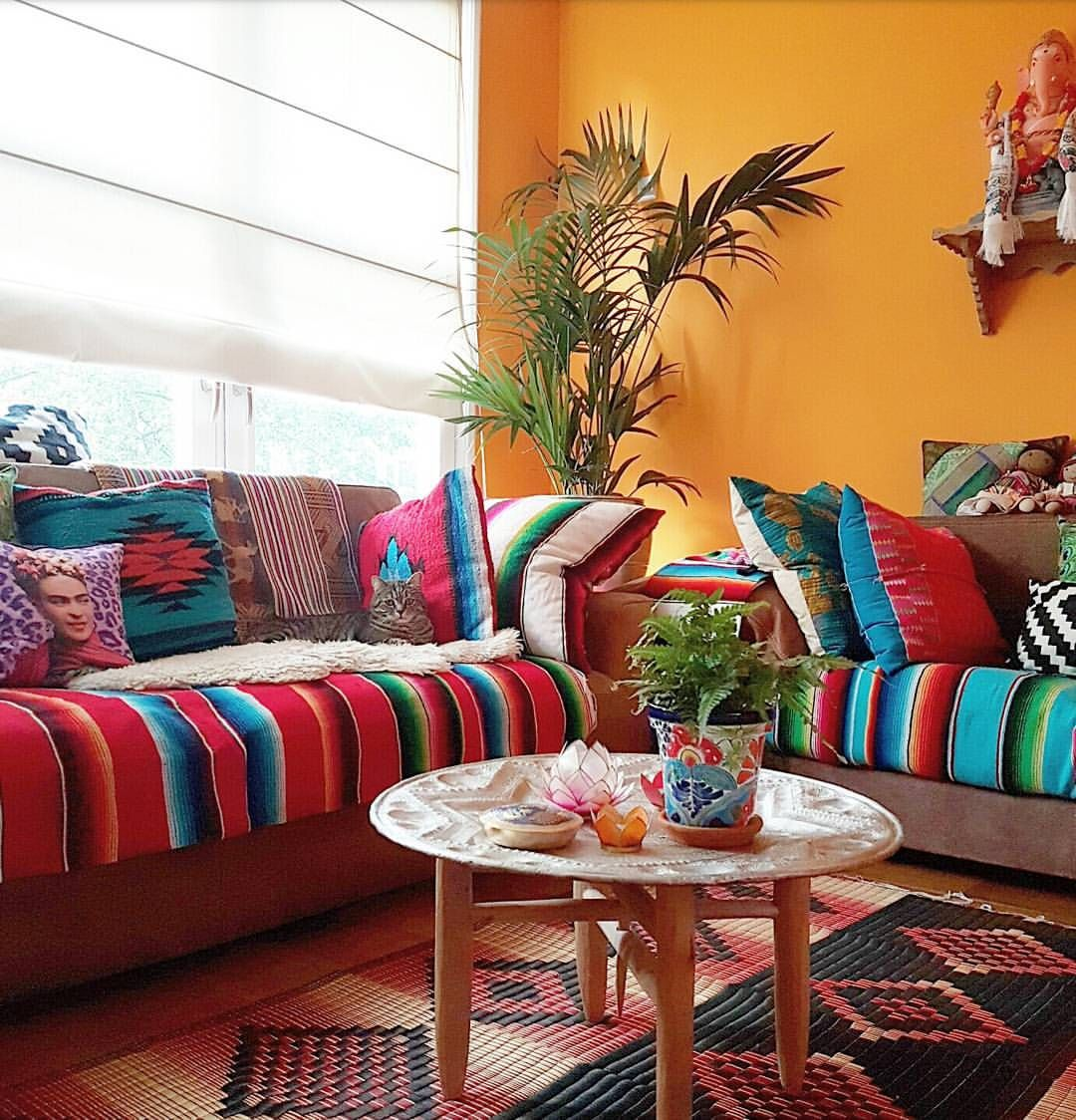 Colorful Living Room Interior Design Ideas: I Love This Room, And What A Colorful Solution If Your