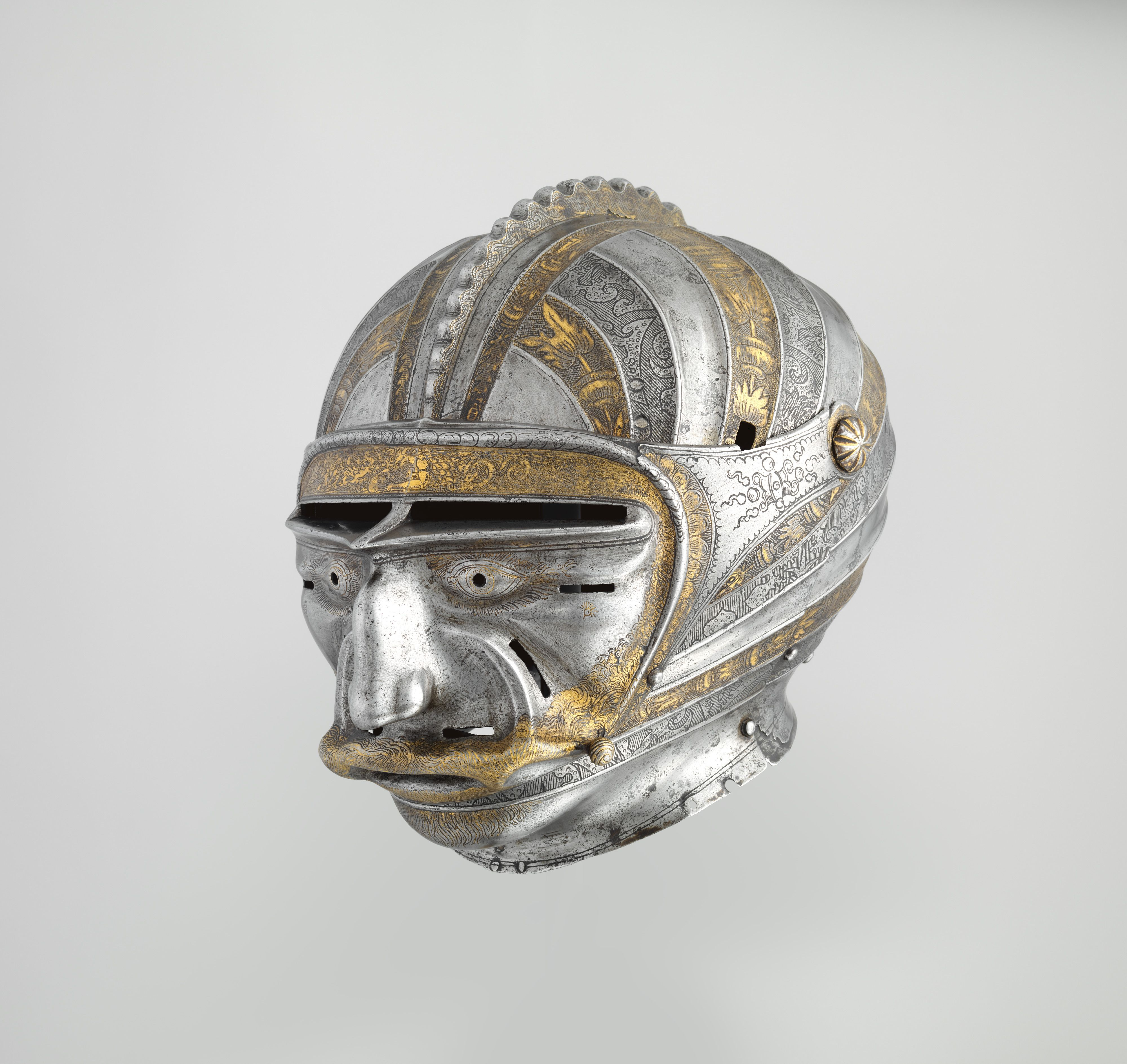 Kolman Helmschmid Close helmet (2kg 30 cm) with mask visor in form ...