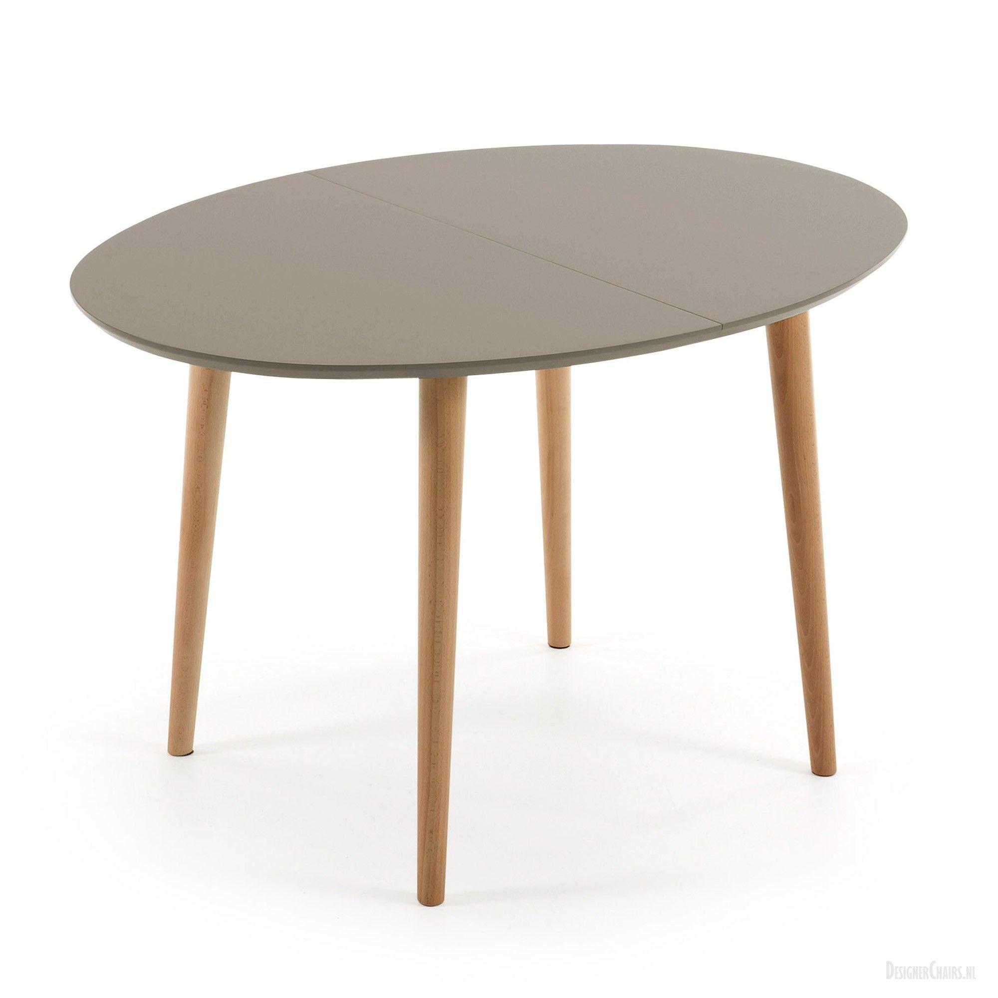 Oakland tafel ovaal 120 200 cm Bruin LaForma