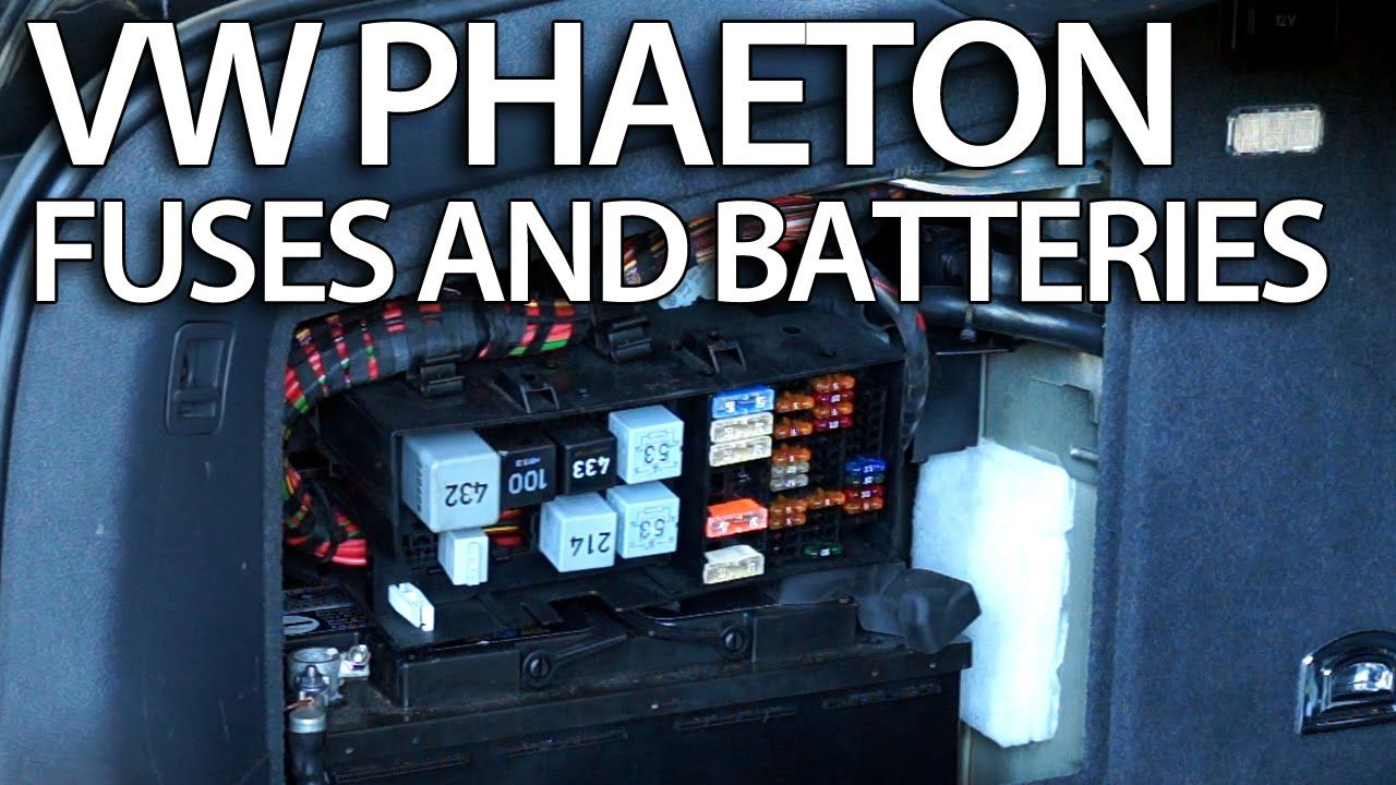 Where are #batteries, #fuses and relays in #VW #Phaeton Volkswagen #fusebox  location #cars