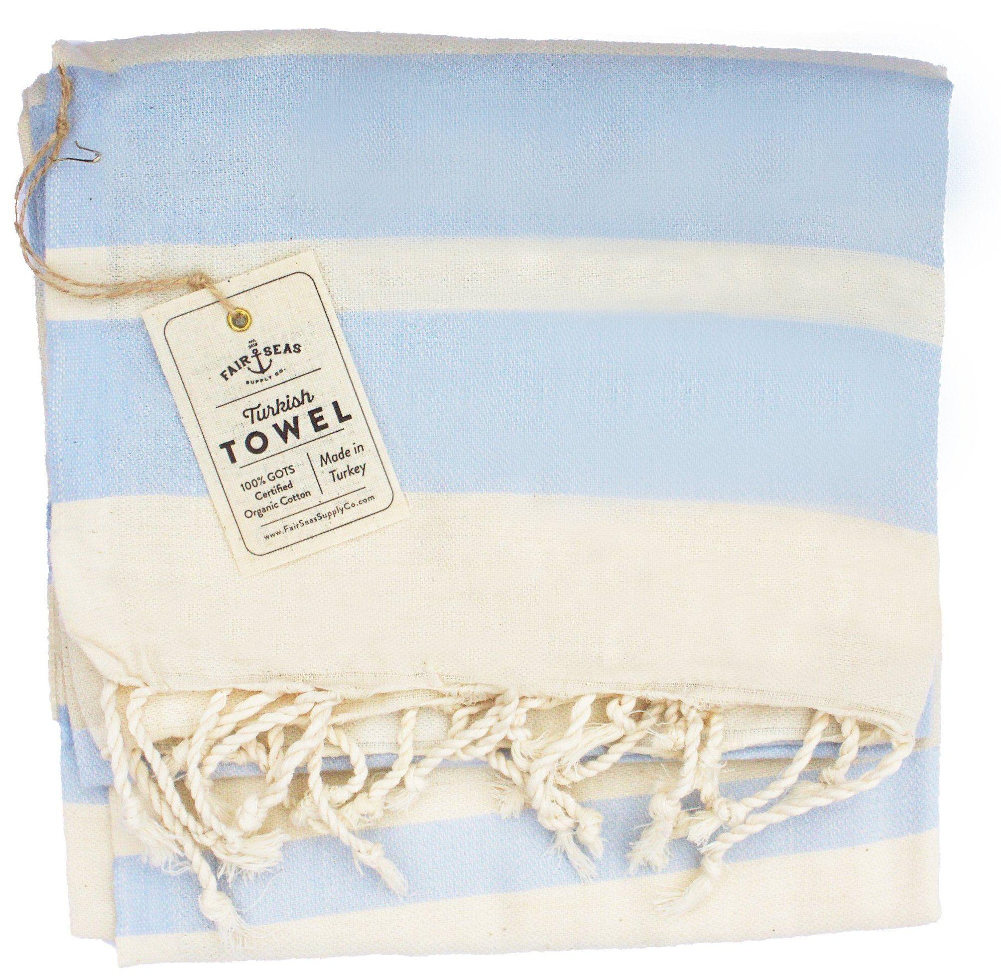 The Charleston Caribbean Blue Haint Blue Turkish Towels Fabric