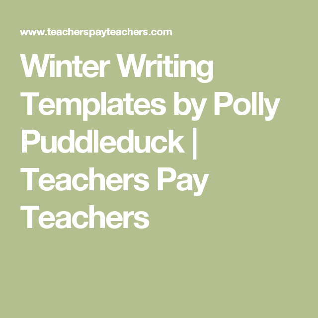 Writing Templates, Winter