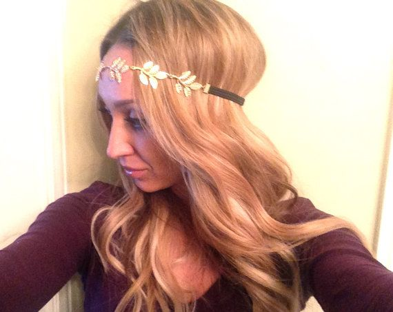 Gold Leaf Headband by bechique on Etsy, $12.00