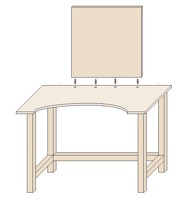 schminktisch selber bauen die r ckwand anbringen diy projekte in 2019 pinterest. Black Bedroom Furniture Sets. Home Design Ideas