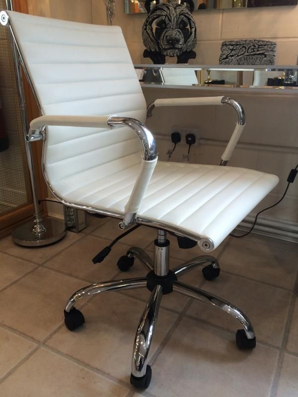 pair cream retro eames style dining chair | products available