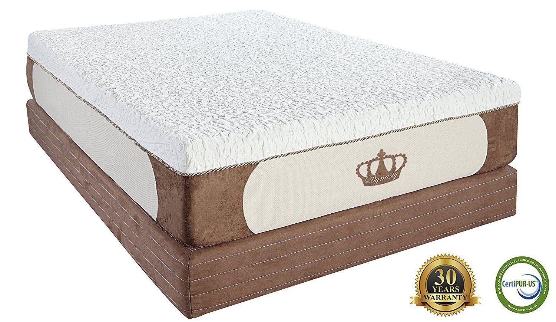 dynastymattress cool breeze 12inch gel memory foam mattress king