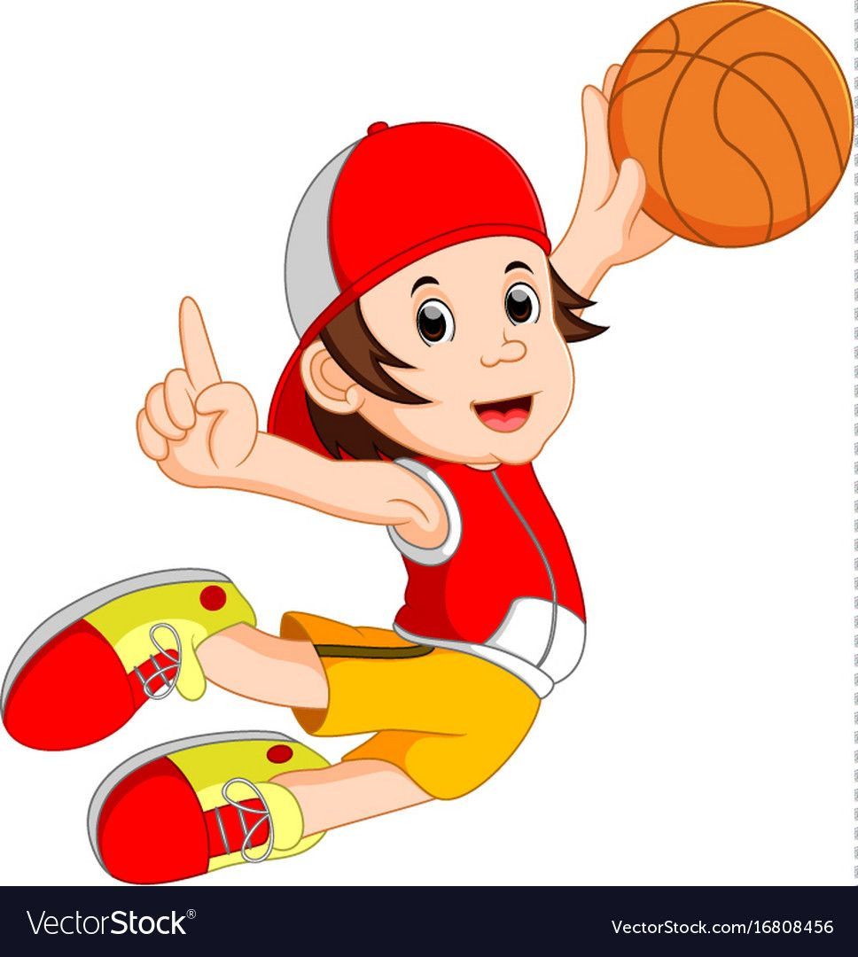 Illustration Of Cartoon Basketball Player Download A Free Preview Or High Quality Adobe Illustrator Ai Eps Pdf Cartoon Art Free Cartoons Basketball Players