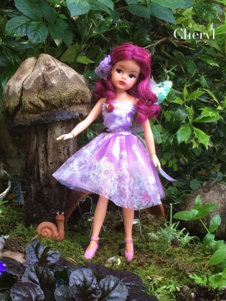 rerooted and repainted Sindy fairy