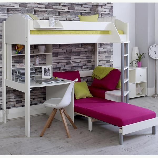 Excellent Stompa Casa C High Sleeper With Sofa Bed Desk Shelf Camellatalisay Diy Chair Ideas Camellatalisaycom