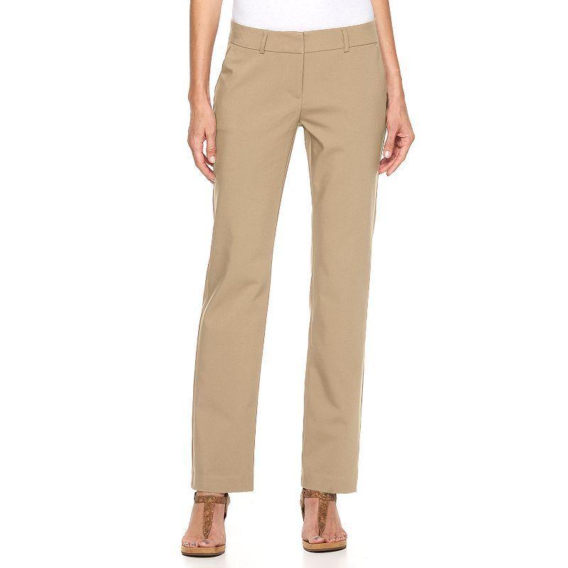 Women's Apt. 9® Torie Straight-Leg Dress Pants, Size: