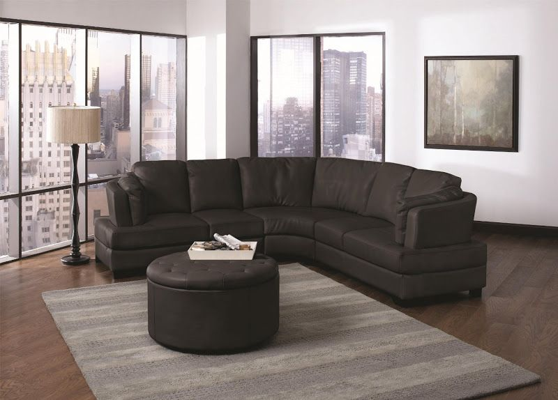 black leather curved sectional sofa (12 image) | furniture makeover