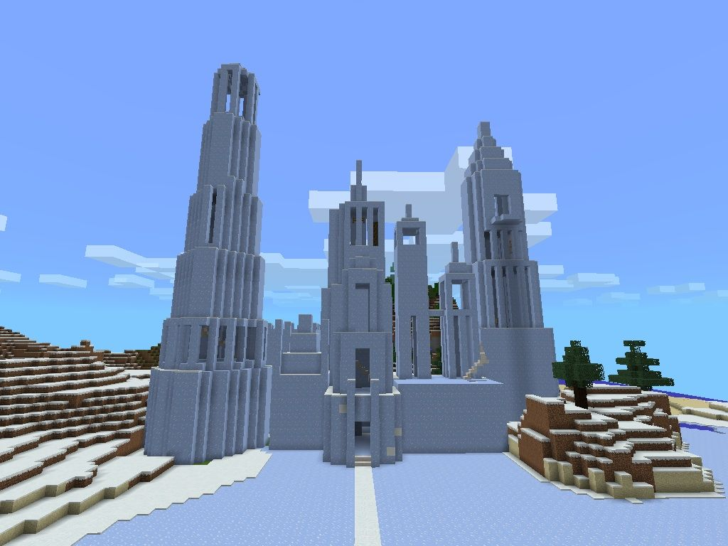 New update on the ice castle!!! Minecraft ice castle
