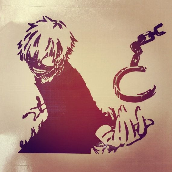 Tokyo ghoul kaneki anime vinyl decal sticker by usagineer visit us usagineer com