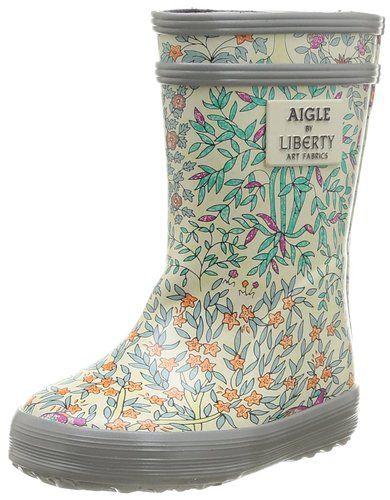 Aigle 24844 Baby Flac Liberty, Bottes de pluie bébé fille