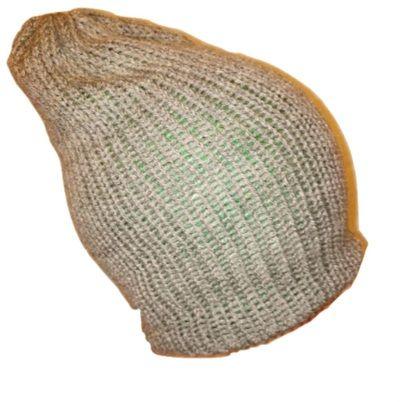 Green Grey  Reversible Handmade Retro Bobble / Beanie / Slouch Hats by www.RetroSheep.com