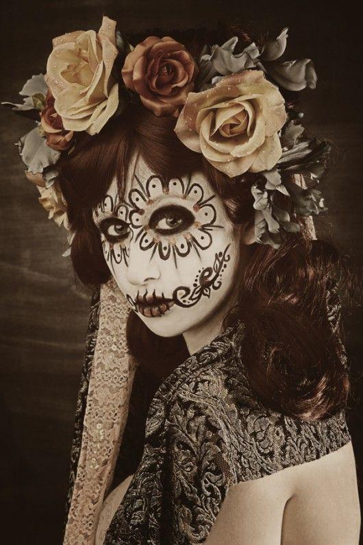 Dia De Los Muertes Sugar Skull Make Up Dingen Voor Halloween Schminken