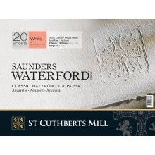 Saunders Waterford Gummed Pads White Not Paper Canvas