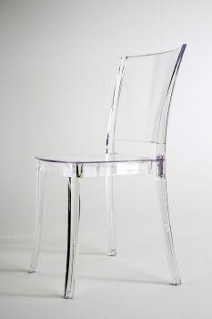 Chaise Polycarbonate Transparent LUCIENNE