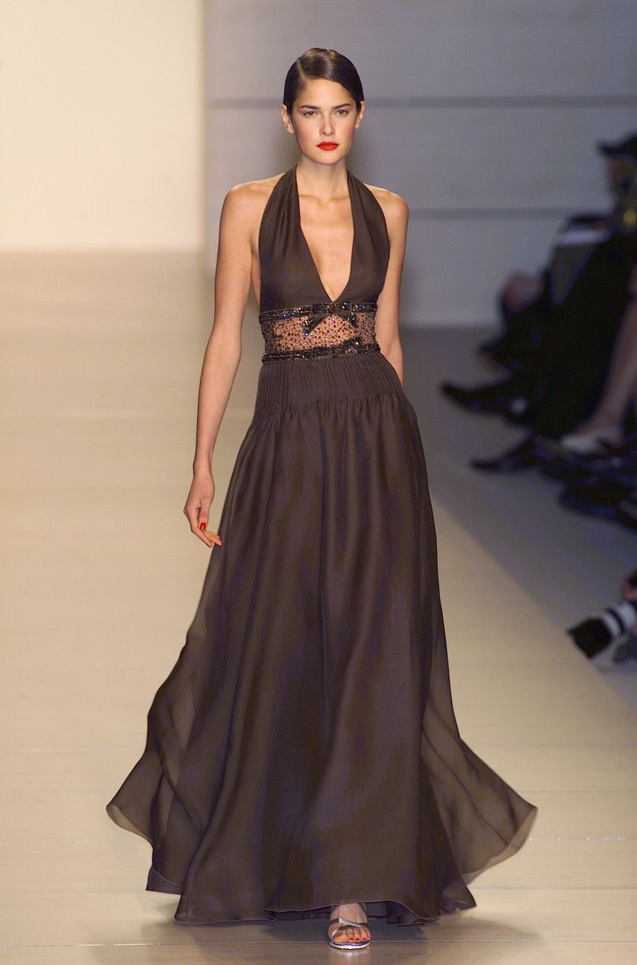 valentino alter top evening gown with sheer panel midriff luv it (Maggie)