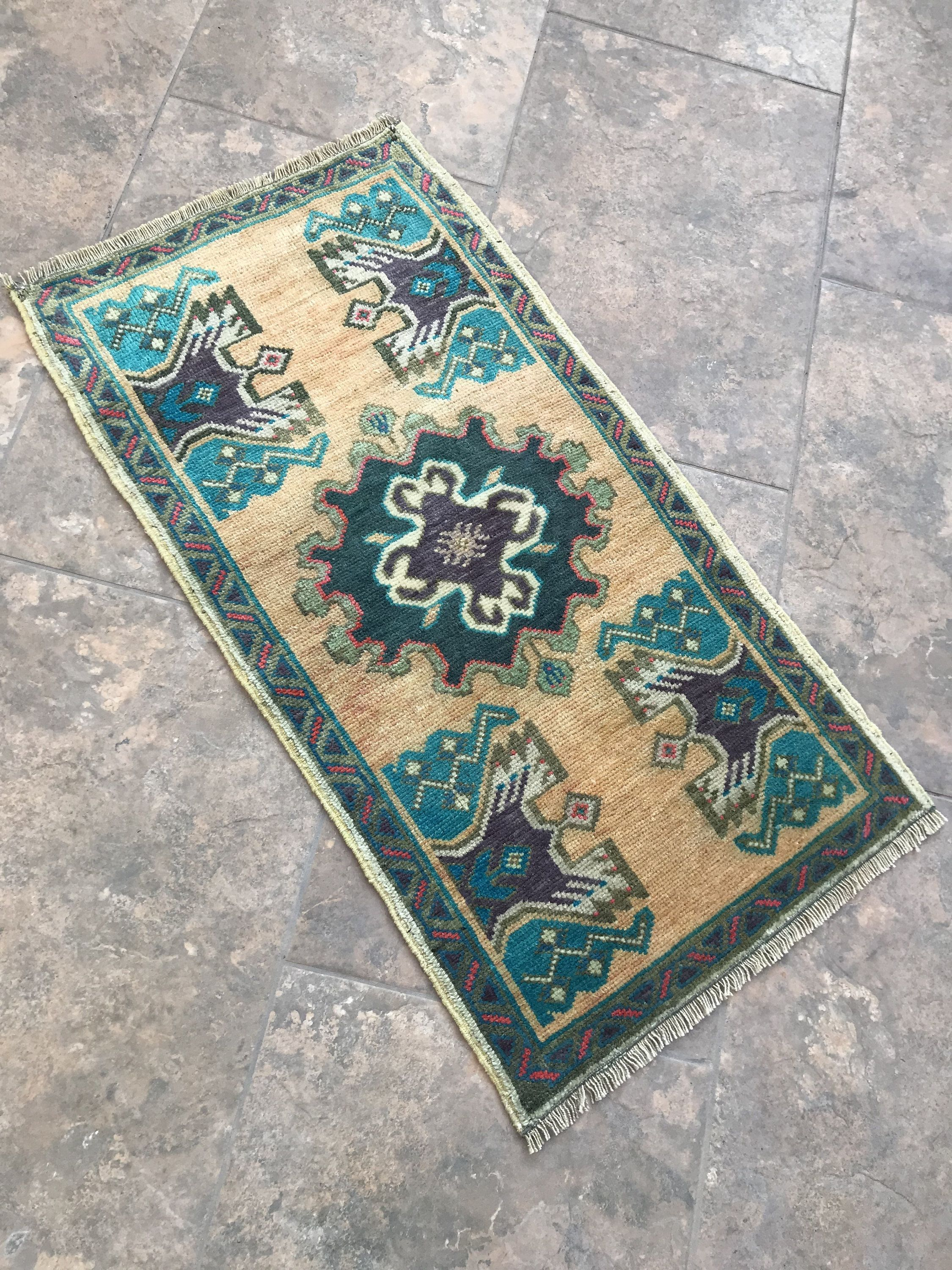 Vintage Wool Small Rug Front Door Rugs Turkish Rugs Room Access Entryway Rug Mats Outdoor Handmade Door Mat Rug 3 2 In 2020 Front Door Rugs Door Rugs Small Rugs