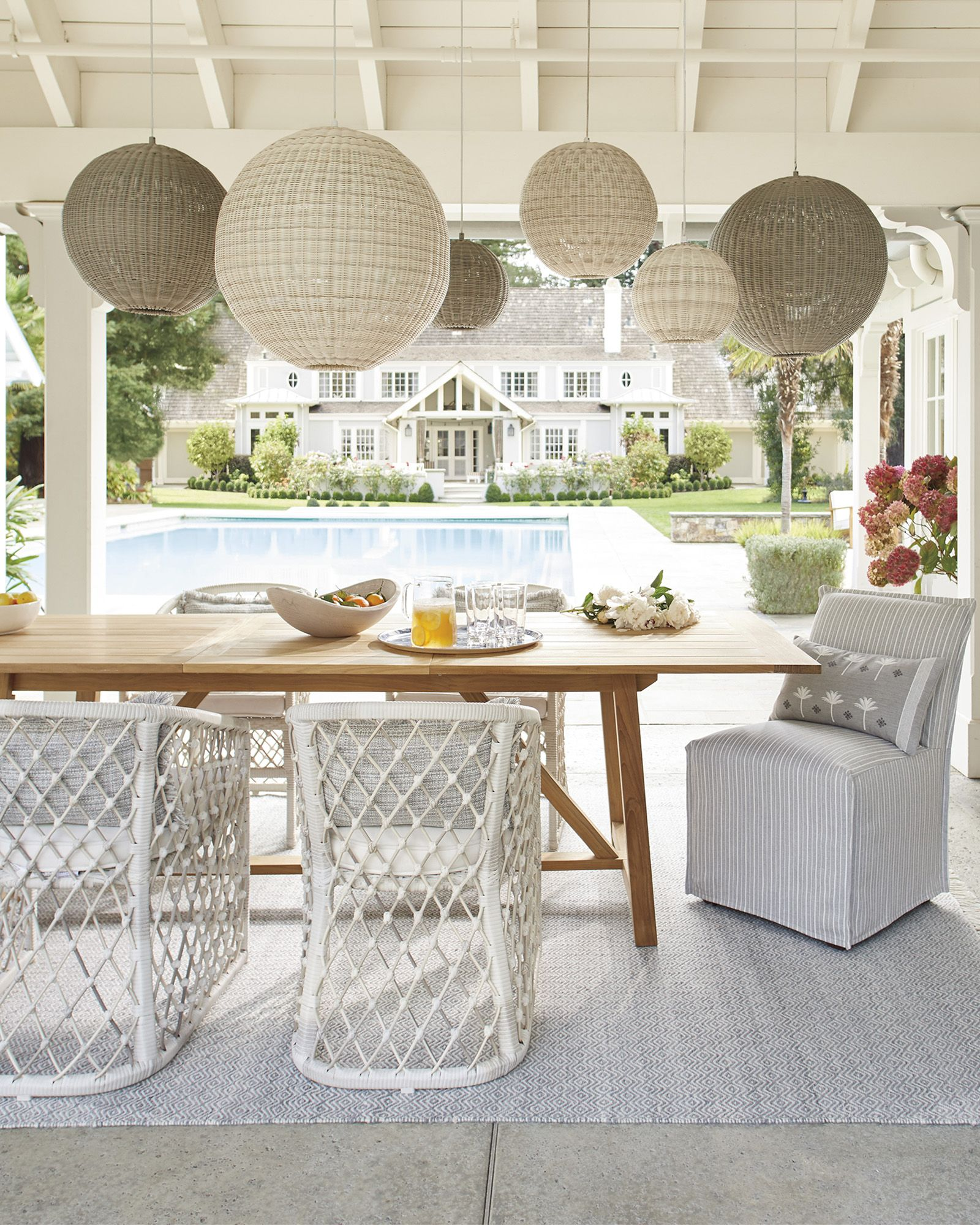 Crosby Teak Expandable Dining Table Natural In 2020 With Images