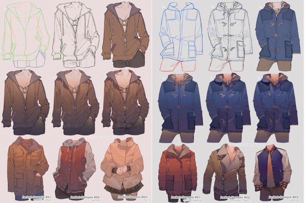 How To Draw Jacket by kawacy on DeviantArt Jacket