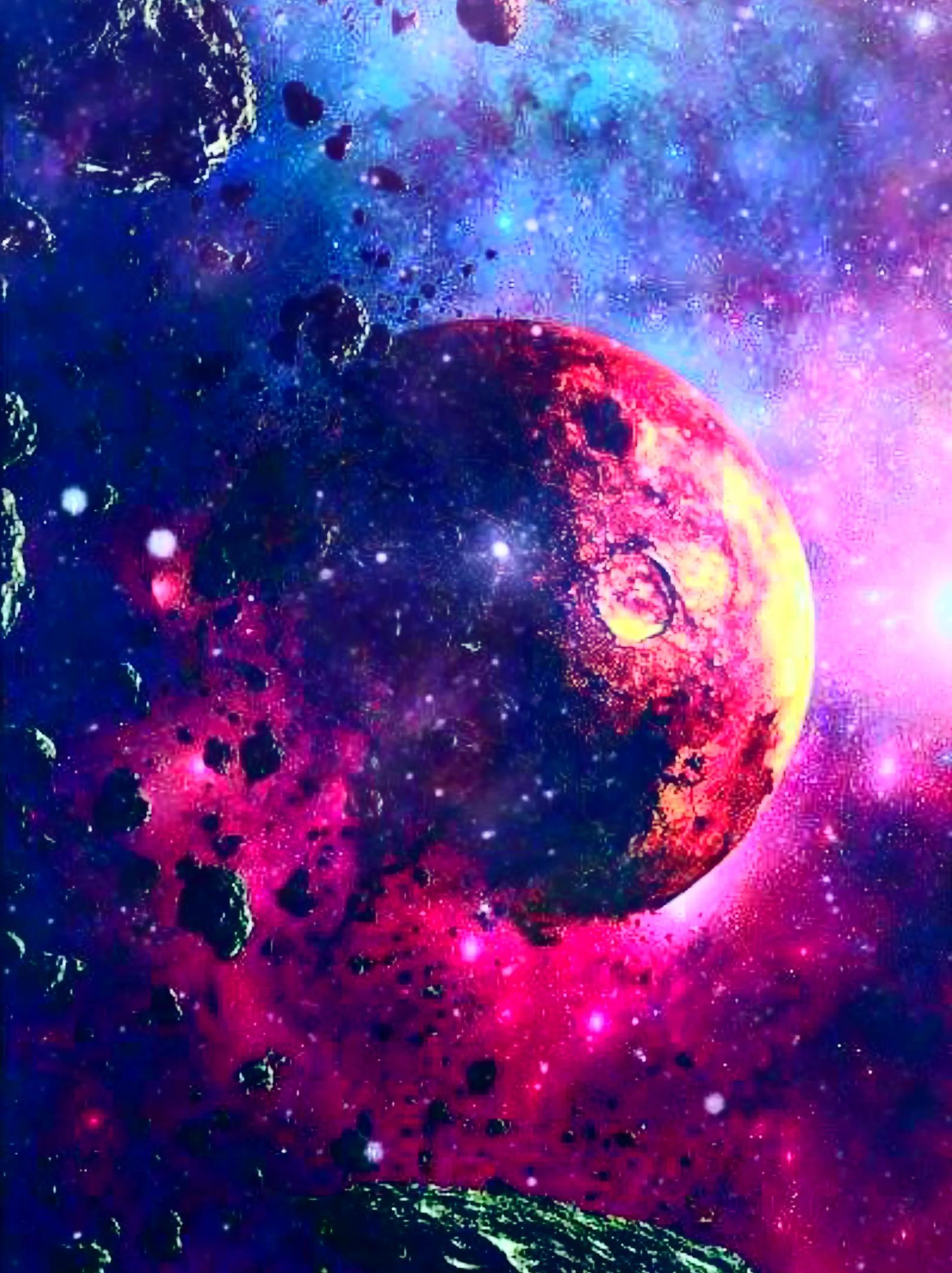 Mas Nuevo Instantaneas Flores Fondos De Videos Ideas Rojo Planeta Galaxia Animaciones Space Painting Galaxy Galaxy Artwork Galaxy Photos
