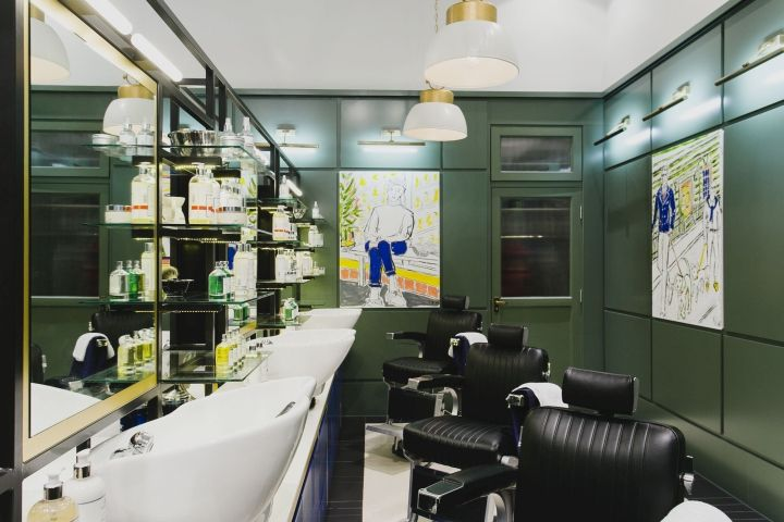 Hair Salon Interior Working Area