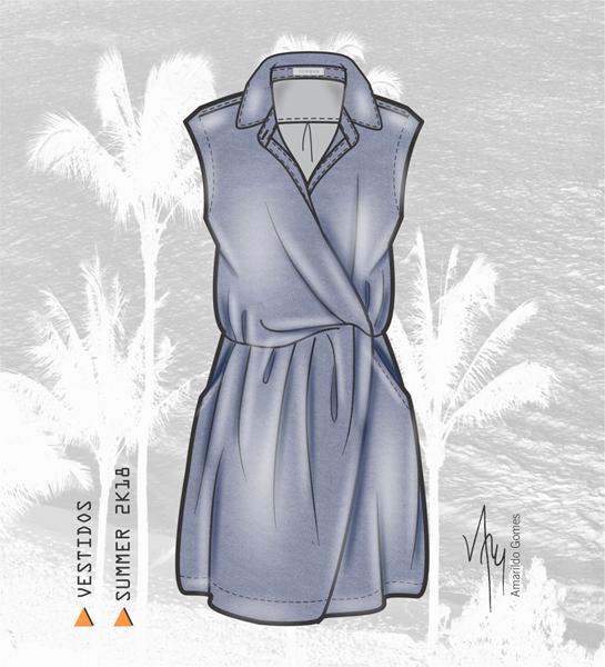 Croquis Vestidos Verão 2018 Desenhos De Moda Croquis E Moda