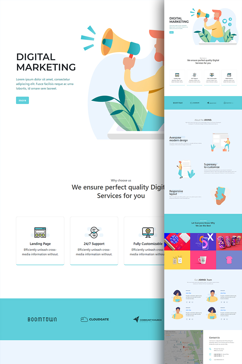 Multipurpose Modern Bootstrap Landing Page Template Page