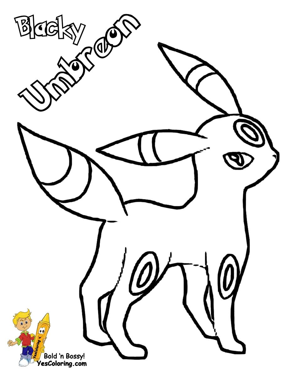 Pokemon Umbreon Coloring Pages Download Dibujos Para Colorear