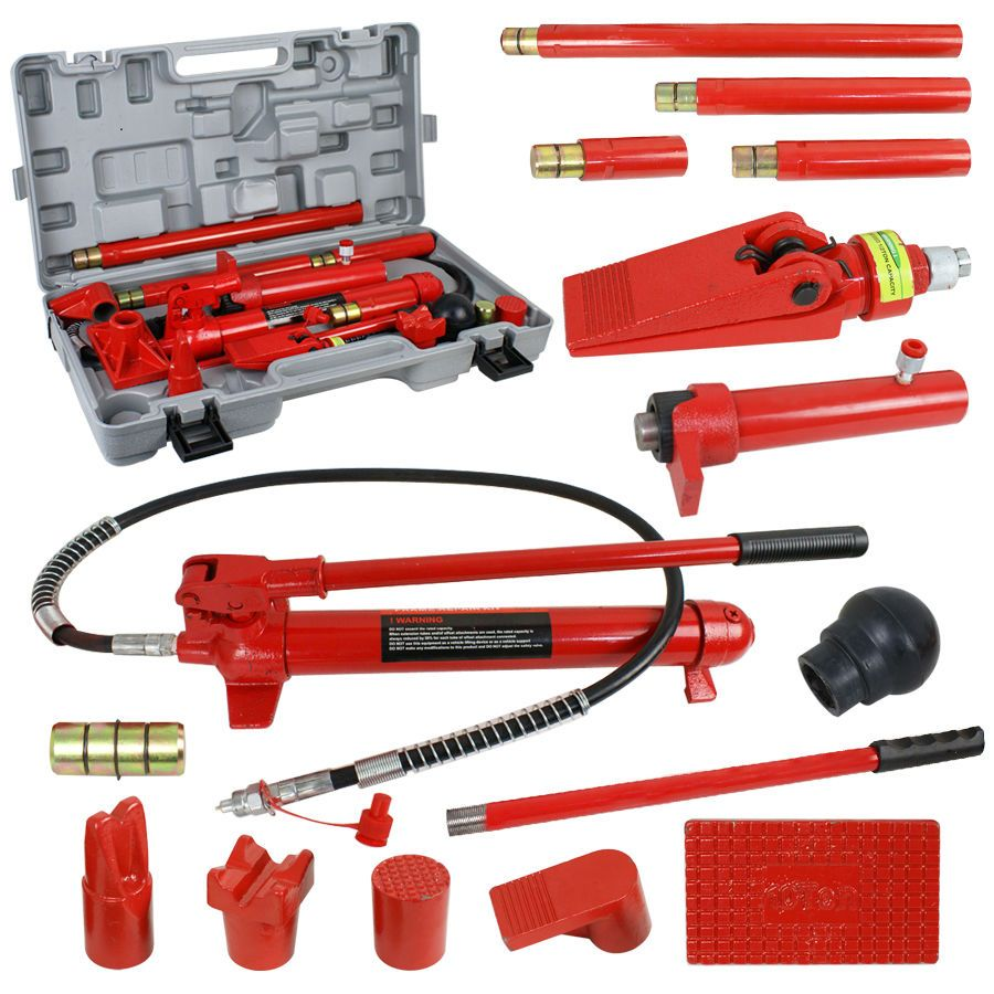 10 Ton Porta Power Hydraulic Jack Body Frame Repair Kit Auto Shop Tool Lift Ram Same Day Shipping Blowout Prices Premium Quality Car Shop Kit Cars Repair