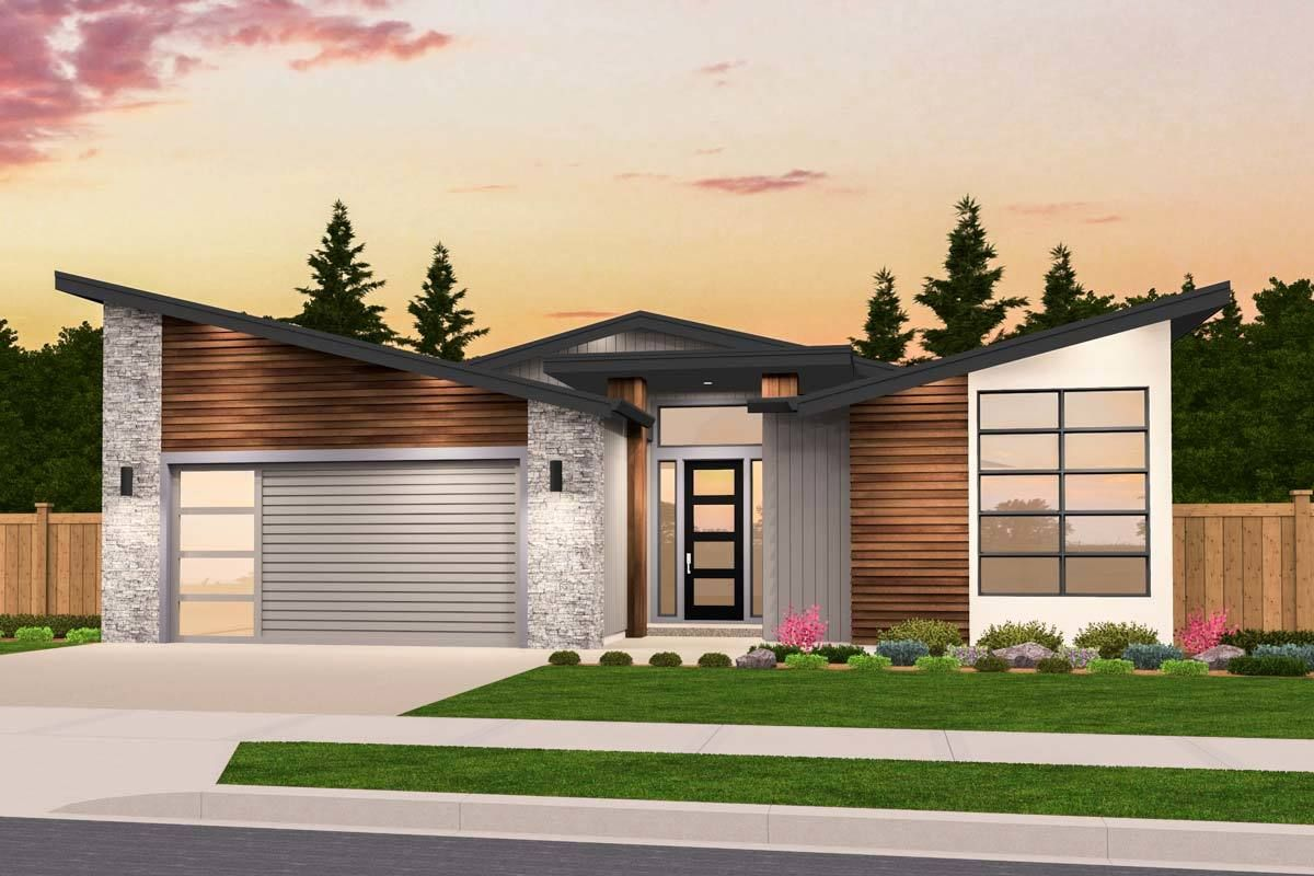 Plan 85234ms Exclusive One Story Modern House Plan With Open Layout In 2021 Modern House Plans Contemporary House Plans Modern House Plan