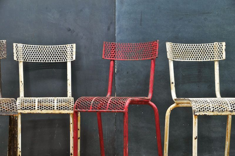 Mategot French Industrial Metal Chairs : 20th Century Vintage Industrial  Modern50 Style. More Of This Please