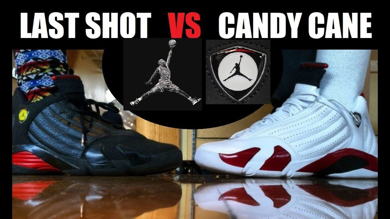 the latest 987e7 aa5ad Air Jordan 14 Last Shots VS Cherry Candy Cane Retro Shoes On Feet  PICKONE   sneakers  sneakernews  sneakeraddict  DjDelz  hiphop