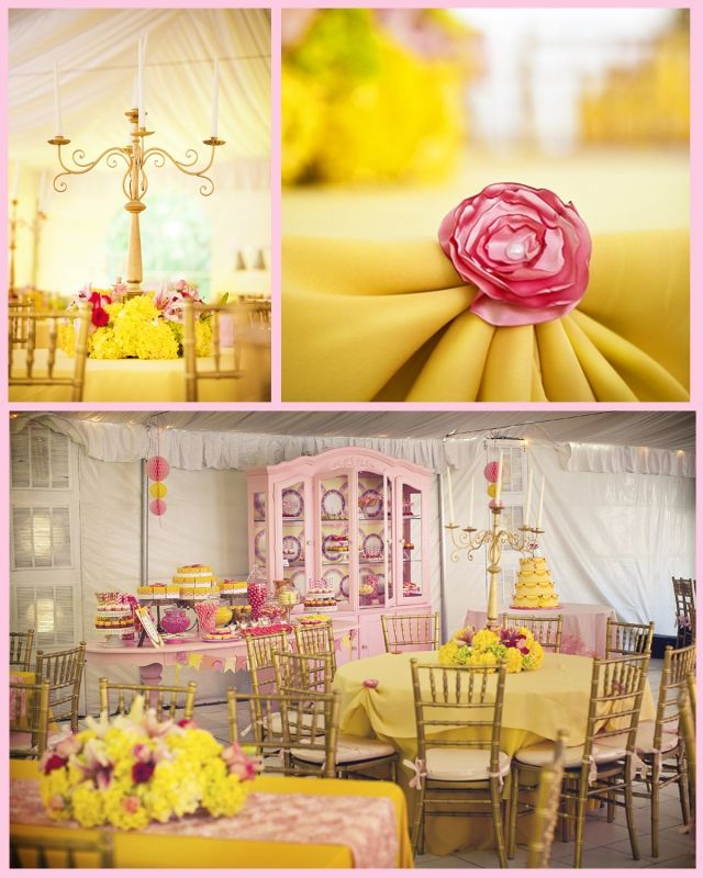Princess Belle Party Decorations Beauty And The Beast Theme Princess Party Part 2  Hostess