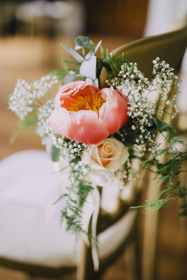 A beautifully floral English country garden wedding at Kelmarsh Hall ...