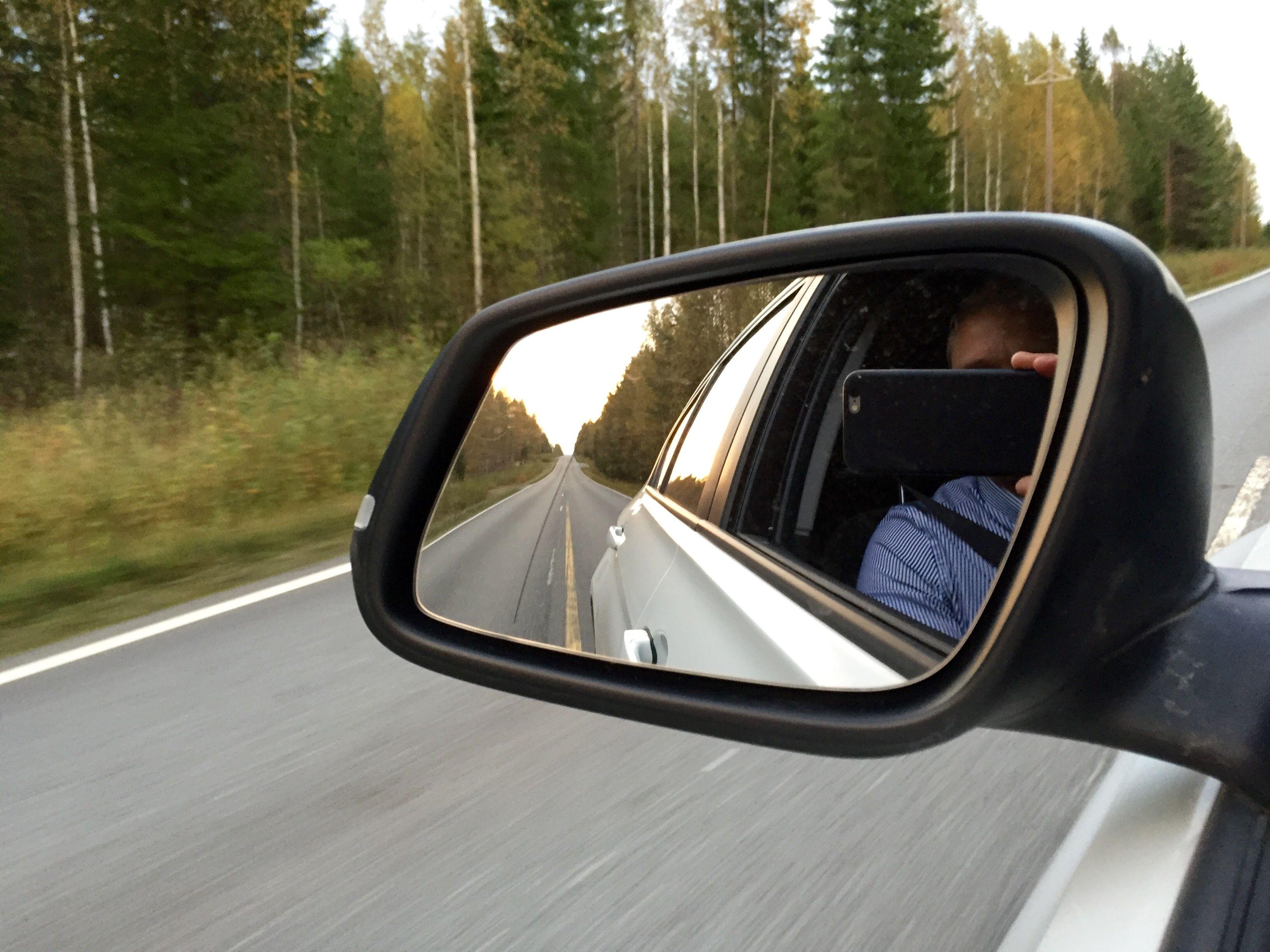 Keski-Suomi ja varsin upea syyspäivä kääntymässä illaksi.