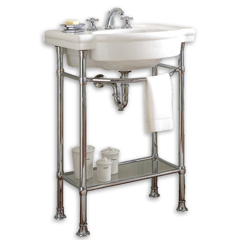 Bathroom. American Standard Retrospect 27 Console Table Shown In 020 White.  Pedestal Sink.