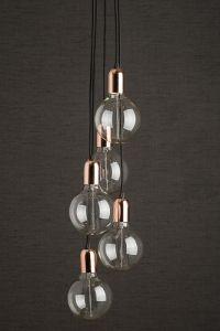 Copper Cluster Pendant Light With Large Vintage Bulbs http://www.desresdesign.co.uk/copper-cluster-pendant-light#.VuGJn_mLTIU