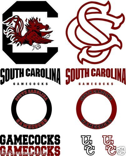 2 Pack USC South Carolina State Gamecocks Cornhole Decals Stickers Bubble Free