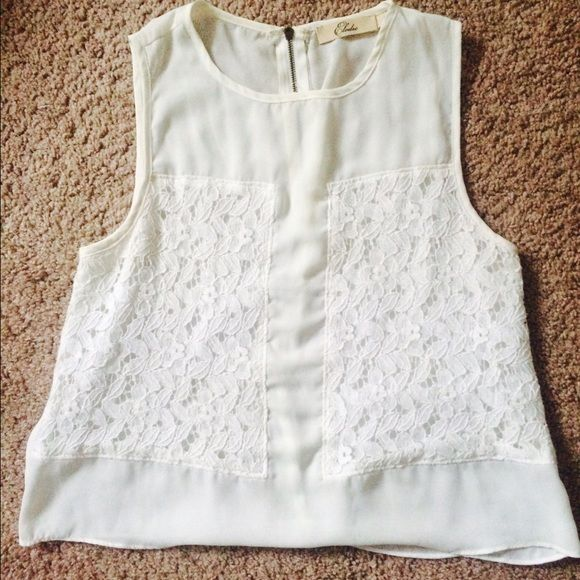 White Nordstrom Top Little bit cropped, but will cover you stomach. Worn a few times, in super good condition, tiny orange dot on back but not noticeable, true to size. Tops Blouses