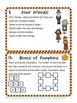 Thanksgiving Math Games Puzzles And Brain Teasers Math Riddles Brain Teasers Brain Teasers Thanksgiving Math Games