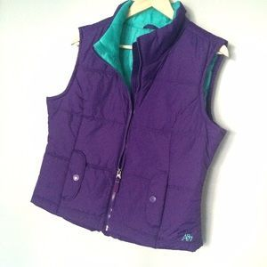 Aeropostale Jackets & Blazers - NWT Purple/Teal Aeropostale Puffer Vest