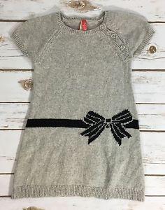 d5870ed4e Ruby Bloom Nordstrom Toddler Girl 2 Gray Black Bow Sweater Dress ...